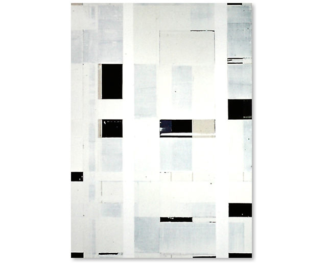 Black Through White, 214 x 252 cm